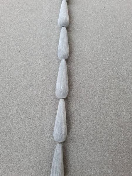 Black Brush Horn Teardrop 50mm x 15mm