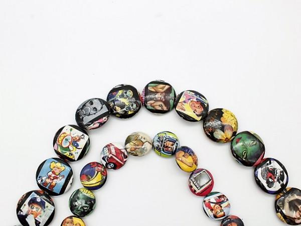 Handmade Paper UFO Beads, Movie Poster