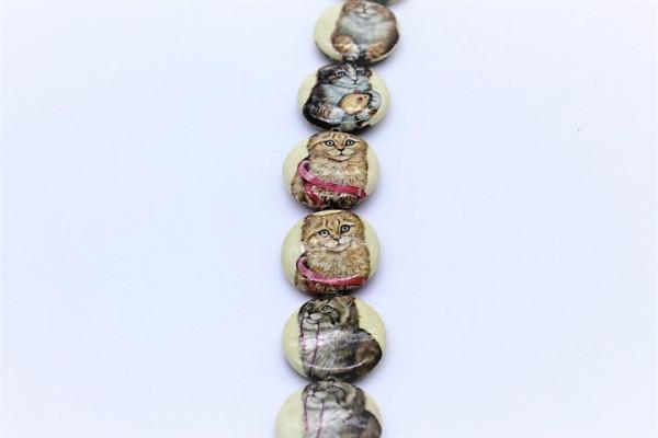 Handmade Paper Beads UFO CAT