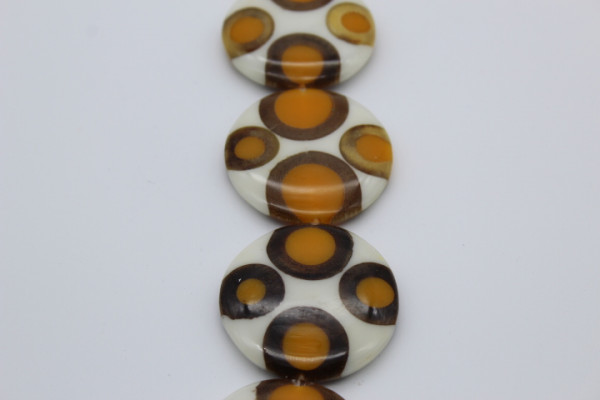 Handmade Resin UFO 50 mm with 4 Bambo Rings ca.50 mm x 8 mm