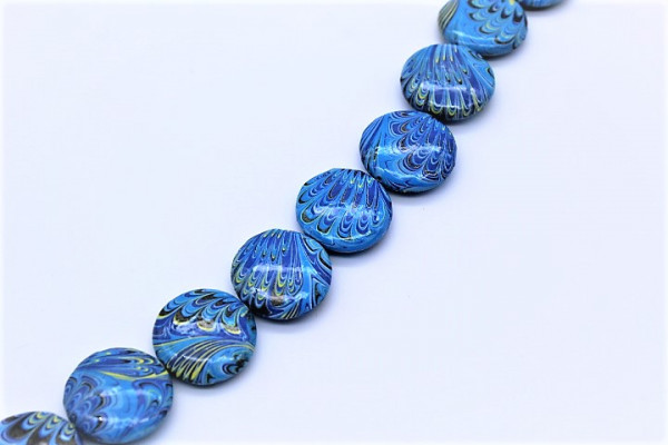 Handmade Paper UFO Beads Abstrakt