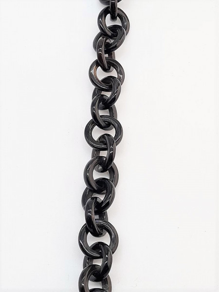 Horn chain piece round ring approx 40cm long