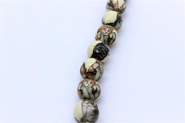 Handmade Paper Round Beads CAT.ca. 20 mm