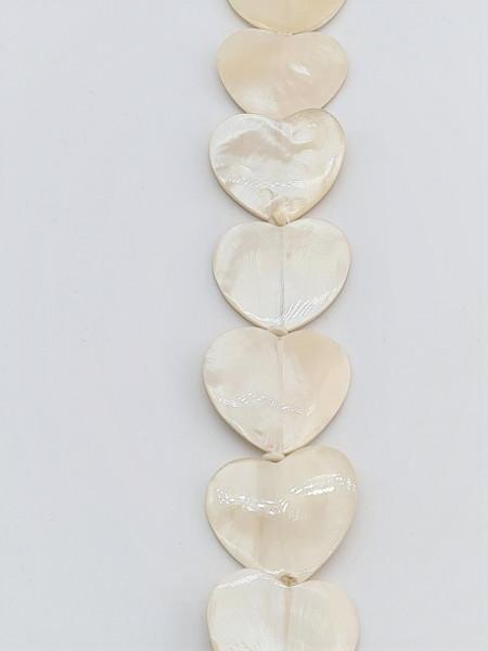 Shell Heart Flat 30mm x 27mm