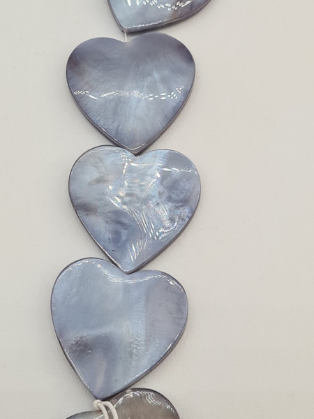 Shell Heart Flat ca 25 mm