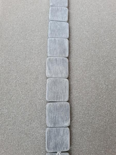 Black Brush Horn flat square 35mm x 5mm