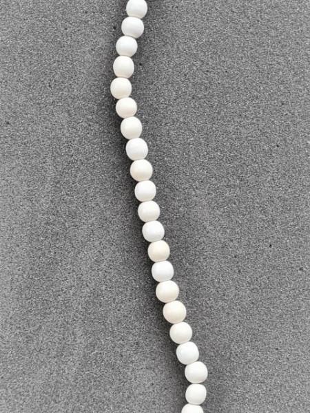 White Wood round Beads