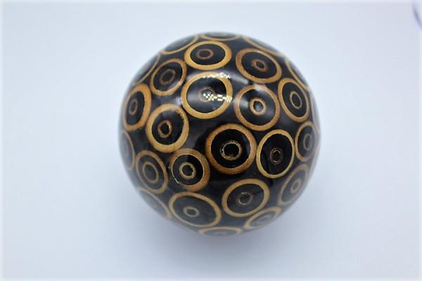 Resin / GisHartz Ball with naturall Inlay Bambo Ring ,Size ca.150 mm