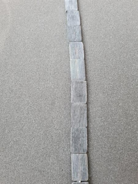 Black Brush Horn Rectangle 30mm x 20mm x 4mm